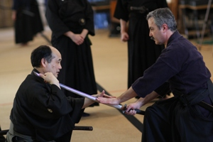Tanida sensei and Jack Bieler at Denton Koshukai 2008
